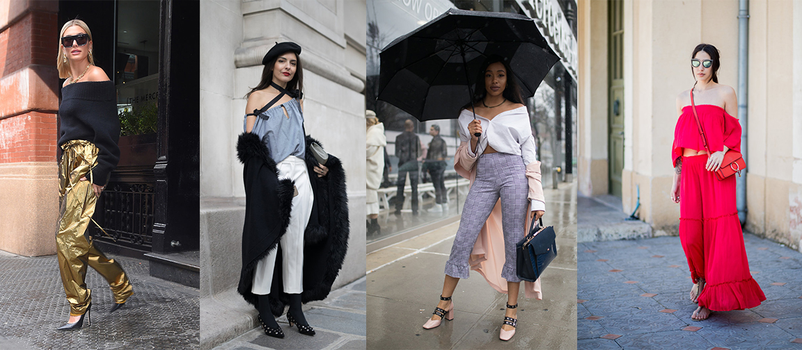 How to Wear The Off-Shoulder Trend di Tahun 2018