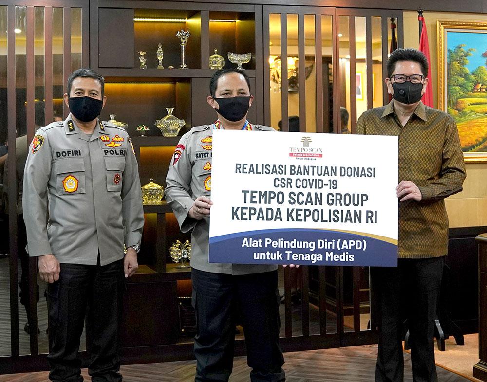 Realisasi Bantuan Donasi CSR COVID-19 Tempo Scan Group kepada Kepolisian Republik Indonesia