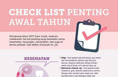 check List Penting Awal Tahun