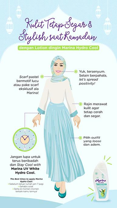 Kulit Tetap Segar dan Stylish saat Ramadhan dengan Lotion Dingin Marina Hydro Cool