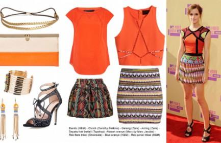 Outfit Oranye untuk Hari Funtastic