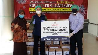 Realisasi Bantuan Donasi CSR COVID-19 Tempo Scan Group kepada 2 Rumah Sakit di Jakarta