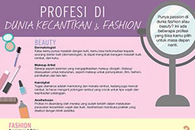 profesi di dunia kecantikan dan fashion